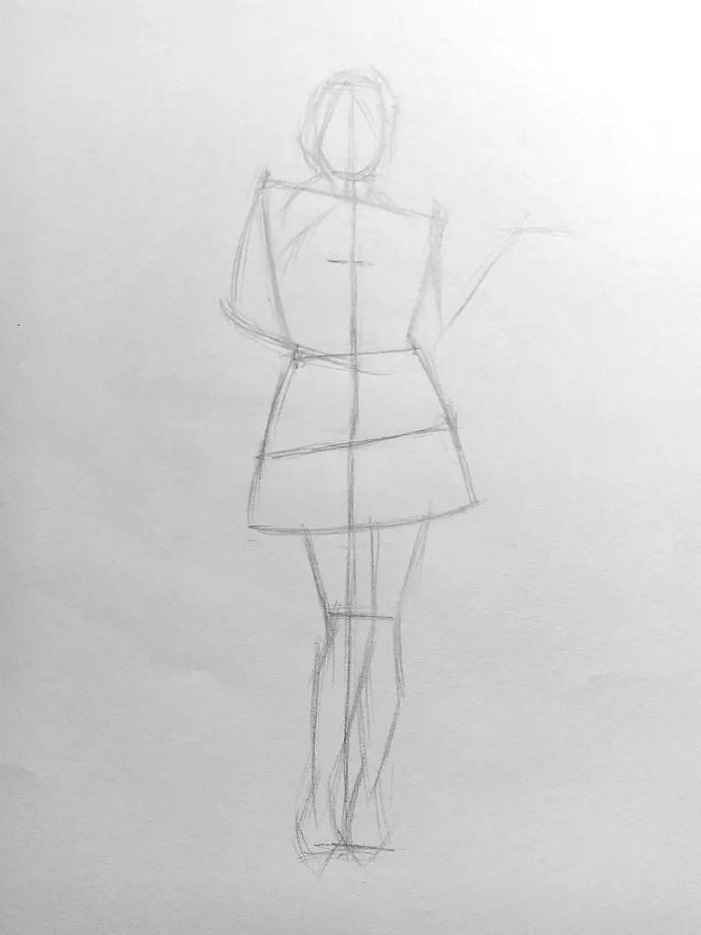 Как нарисовать женщину в полный рост карандашом? Поэтапный урок. Шаг 9. Портреты карандашом - Fenlin.ru