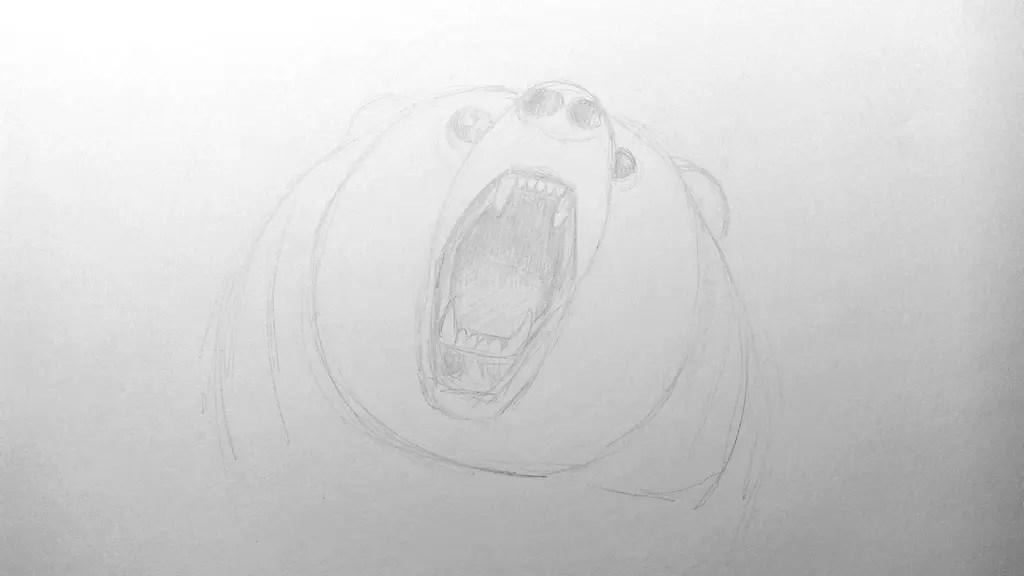 Как нарисовать медведя карандашом? Шаг 8. Портреты карандашом - Fenlin.ru