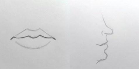 Основы рисования портрета карандашом. Губы