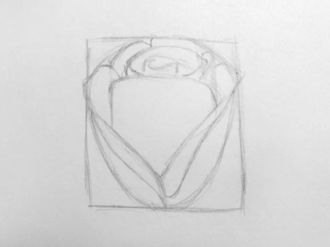 Как нарисовать розу карандашом для детей? Шаг 6. Портреты карандашом - Fenlin.ru