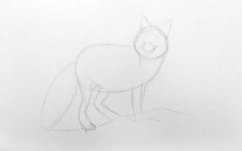 Как нарисовать лису карандашом для детей. Шаг 3. Портреты карандашом - Fenlin.ru