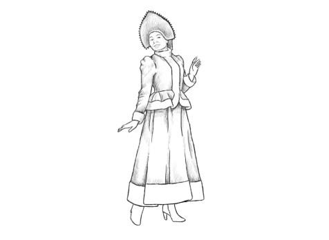 Как нарисовать Снегурочку? Шаг 10. Портреты карандашом - Fenlin.ru
