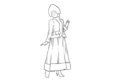 Как нарисовать Снегурочку? Шаг 8. Портреты карандашом - Fenlin.ru