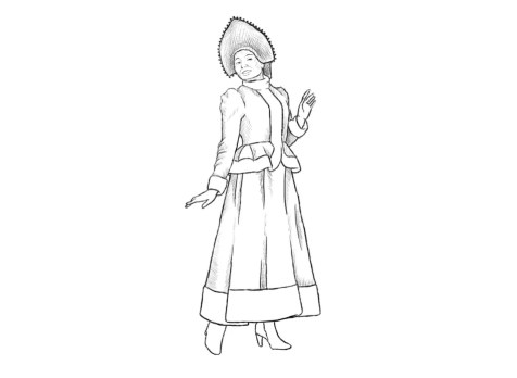 Как нарисовать Снегурочку? Шаг 9. Портреты карандашом - Fenlin.ru
