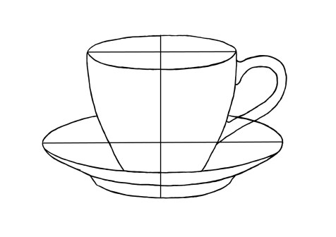 Как нарисовать чашку на графическом планшете? Шаг 7. Портреты карандашом - Fenlin.ru