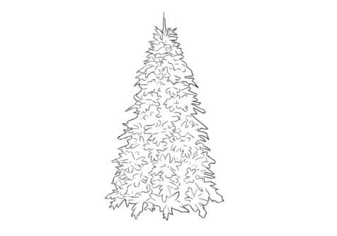 Как нарисовать елку? Шаг 5. Портреты карандашом - Fenlin.ru