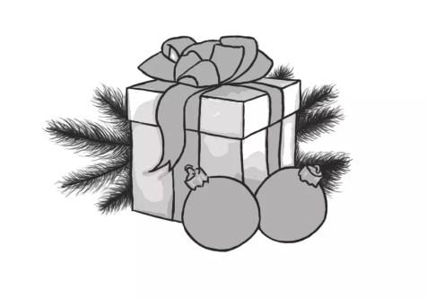 Как нарисовать подарок на новый год? Шаг 14. Портреты карандашом - Fenlin.ru