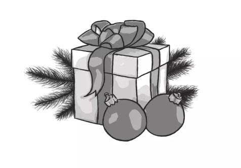 Как нарисовать подарок на новый год? Шаг 15. Портреты карандашом - Fenlin.ru