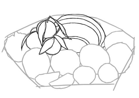 Как нарисовать фрукты? Шаг 4. Портреты карандашом - Fenlin.ru