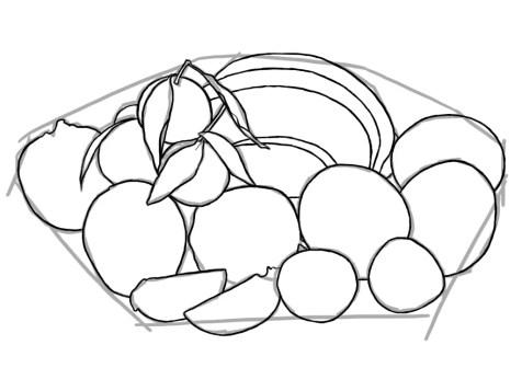 Как нарисовать фрукты? Шаг 6. Портреты карандашом - Fenlin.ru