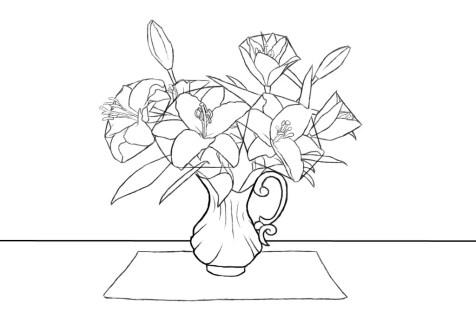 Как нарисовать вазу с цветами? Шаг 11. Портреты карандашом - Fenlin.ru