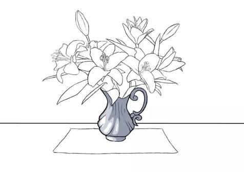 Как нарисовать вазу с цветами? Шаг 14. Портреты карандашом - Fenlin.ru