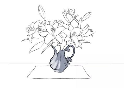 Как нарисовать вазу с цветами? Шаг 15. Портреты карандашом - Fenlin.ru