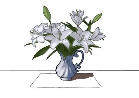 Как нарисовать вазу с цветами? Шаг 23. Портреты карандашом - Fenlin.ru