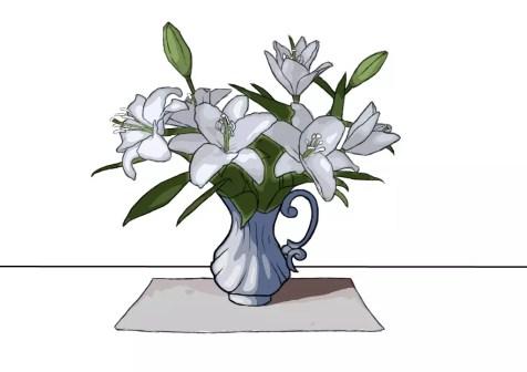 Как нарисовать вазу с цветами? Шаг 24. Портреты карандашом - Fenlin.ru