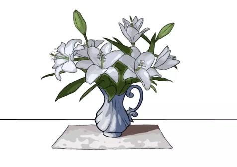 Как нарисовать вазу с цветами? Шаг 25. Портреты карандашом - Fenlin.ru