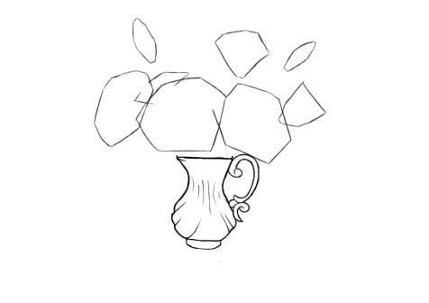 Как нарисовать вазу с цветами? Шаг 6. Портреты карандашом - Fenlin.ru