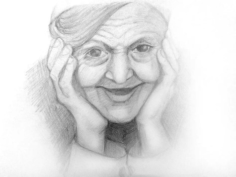 Как нарисовать старушку карандашом? Шаг 11. Портреты карандашом - Fenlin.ru