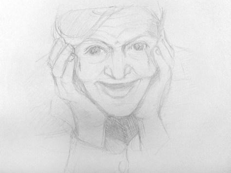 Как нарисовать старушку карандашом? Шаг 7. Портреты карандашом - Fenlin.ru