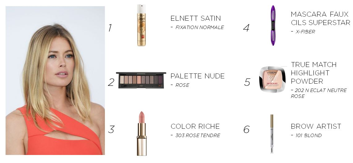 Get Doutzen's barely-there beauty look with these L'oreal products!