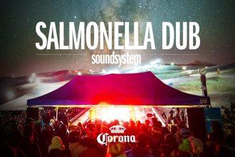 gig poster for coronet peak's salmonella dub show