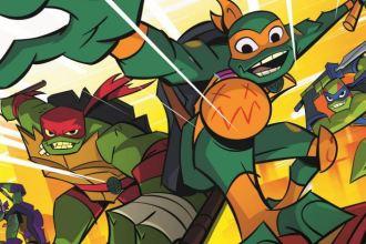 the teenage mutant ninja turtles leaping into action