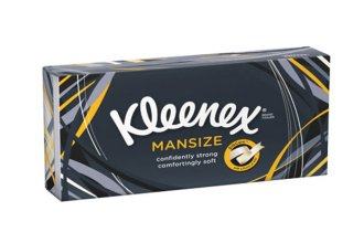 a box of kleenex mansized tissues, about to go defunct