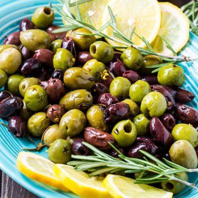 a platter of olives