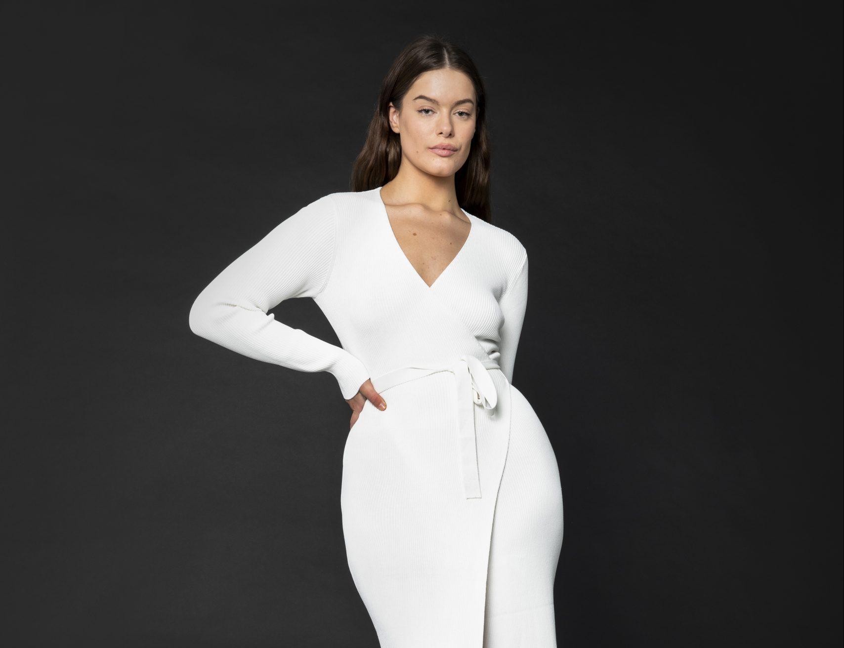 RUBY ROMA WRAP DRESS WHITE - ELLA