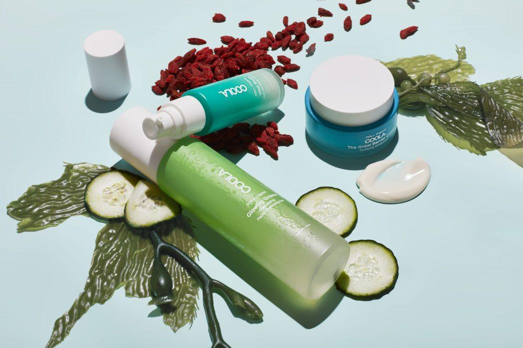 COOLA skincare product flatlay