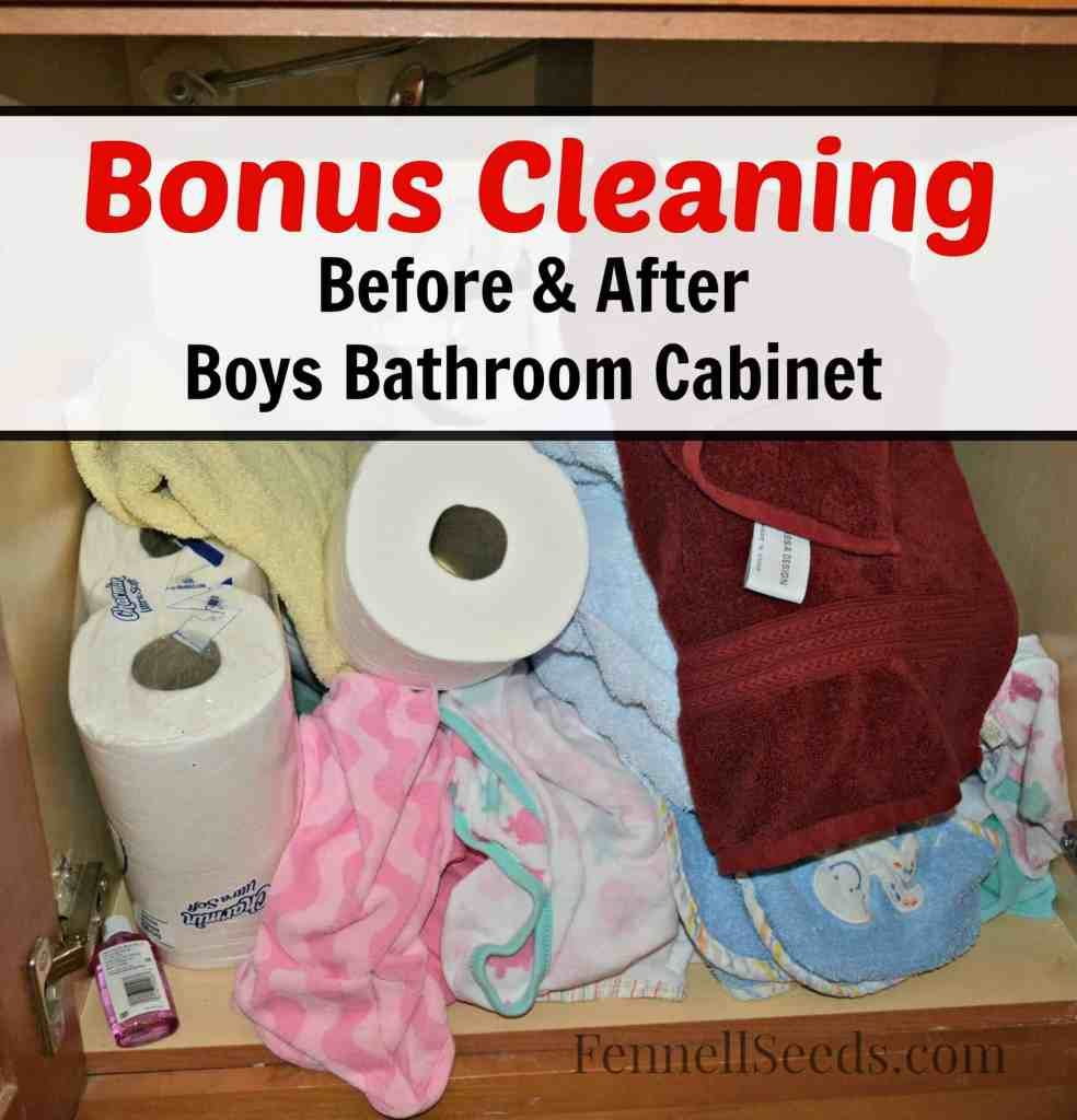 Bonus Cleaning Boys Cabinet Before & After