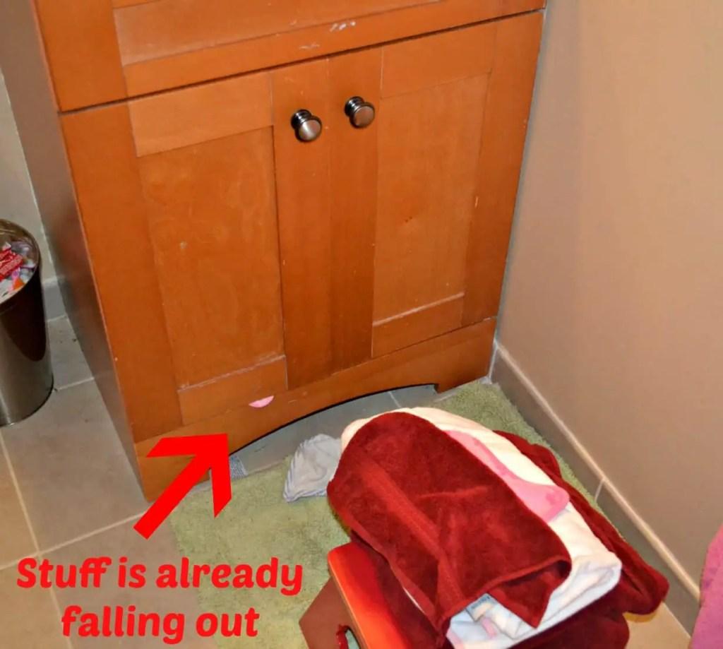 Bonus Cleaning - Boys Bathroom Cabinet