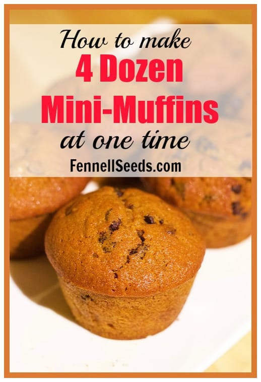 How to Make 4 Dozen Mini-Muffins at One Time