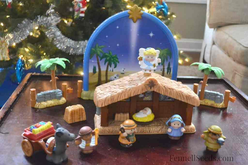 Nativity Set Advent Toy