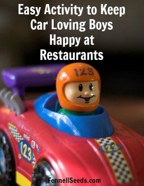 Activity to Keep Car Loving Boys Happy at Restaurants
