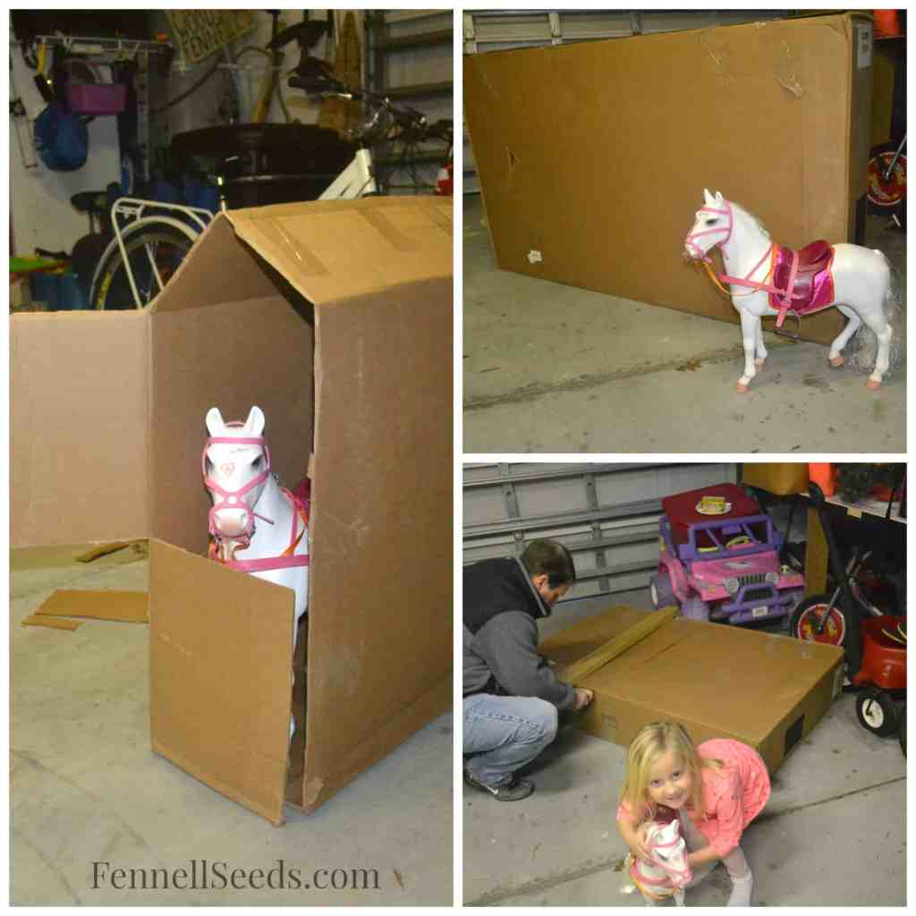 DIY Cardboard Box Stable