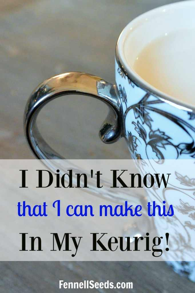 I didn't know that I could make this in my Keurig. My favorite non-coffee drinks and a soup.