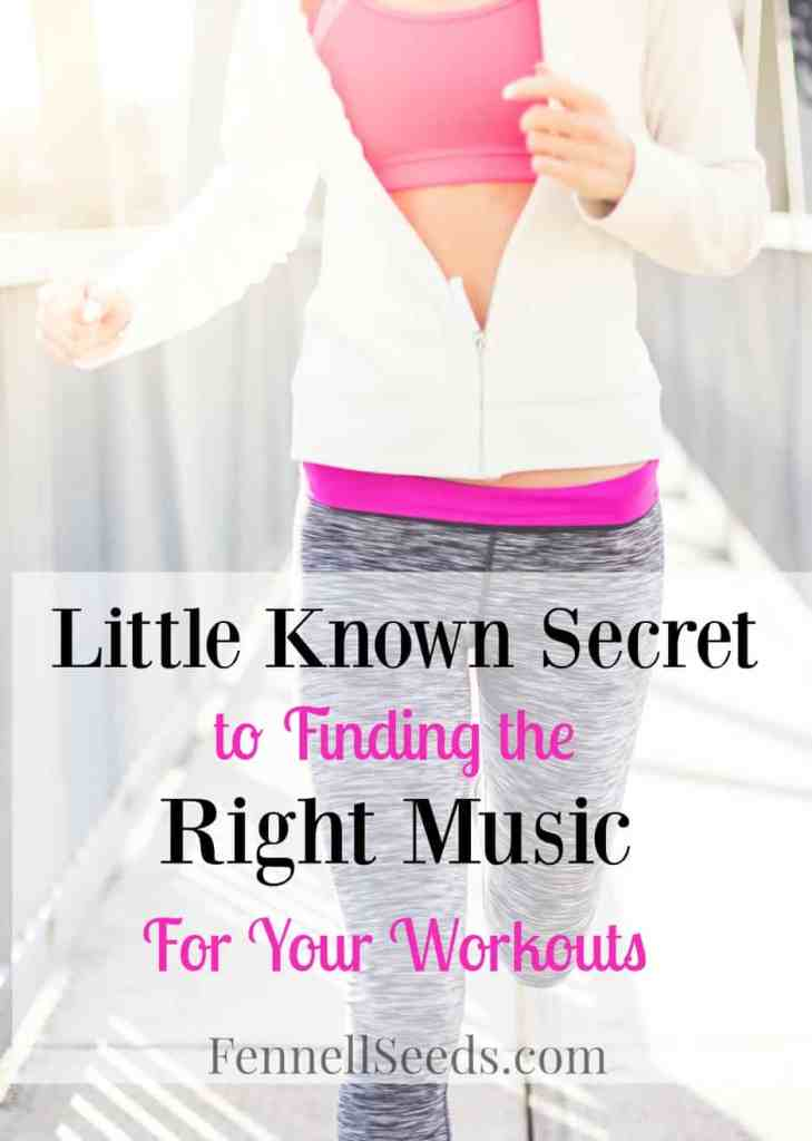 Little Known Trick to find the right music to keep your workout on the correct pace. 2 websites to help find music to motivate you to keep working out.