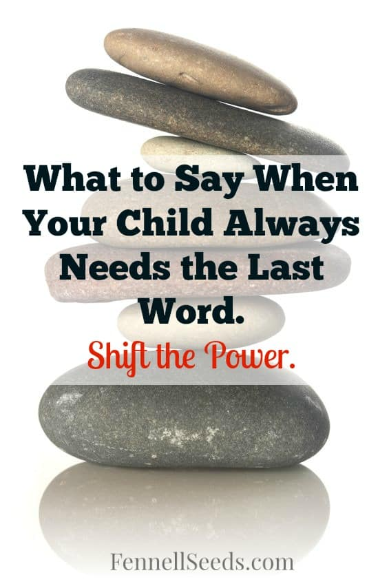 Argument | Last Word | Arguing with Child | Argumentative | I love having a phrase like this to use when my son. It helps so much with a child that always needs the last word in an argument.