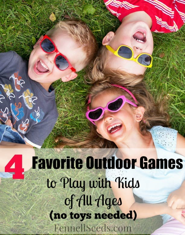 Easy fast games to keep things interesting when playing outside with kids. This weekend my boys taught me some of these and I love that they are quick and not complicated games that all different ages can have fun. I actually enjoyed playing them too.