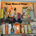 Get those Bags of Chips Off the Pantry Shelf – A New Way to Organize Bags of Chips