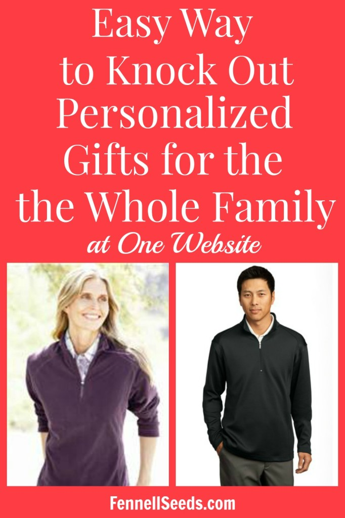 Awesome gift idea for the whole family. I love when I can get everyone the same thing and knock out a bunch of gifts at one time. These personalized fleeces are perfect.