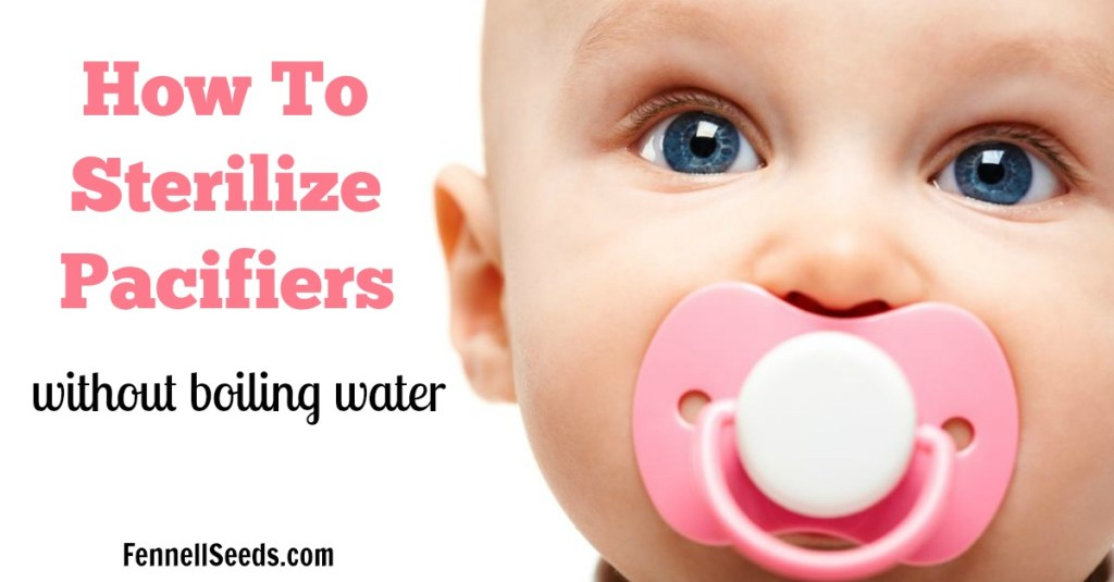 How to Sterilize Pacifiers | Clean Pacifiers | Pacifier | Sterilize a Pacifier | These tips to clean a pacifier without boiling water are perfect for moms who are on-the-go.