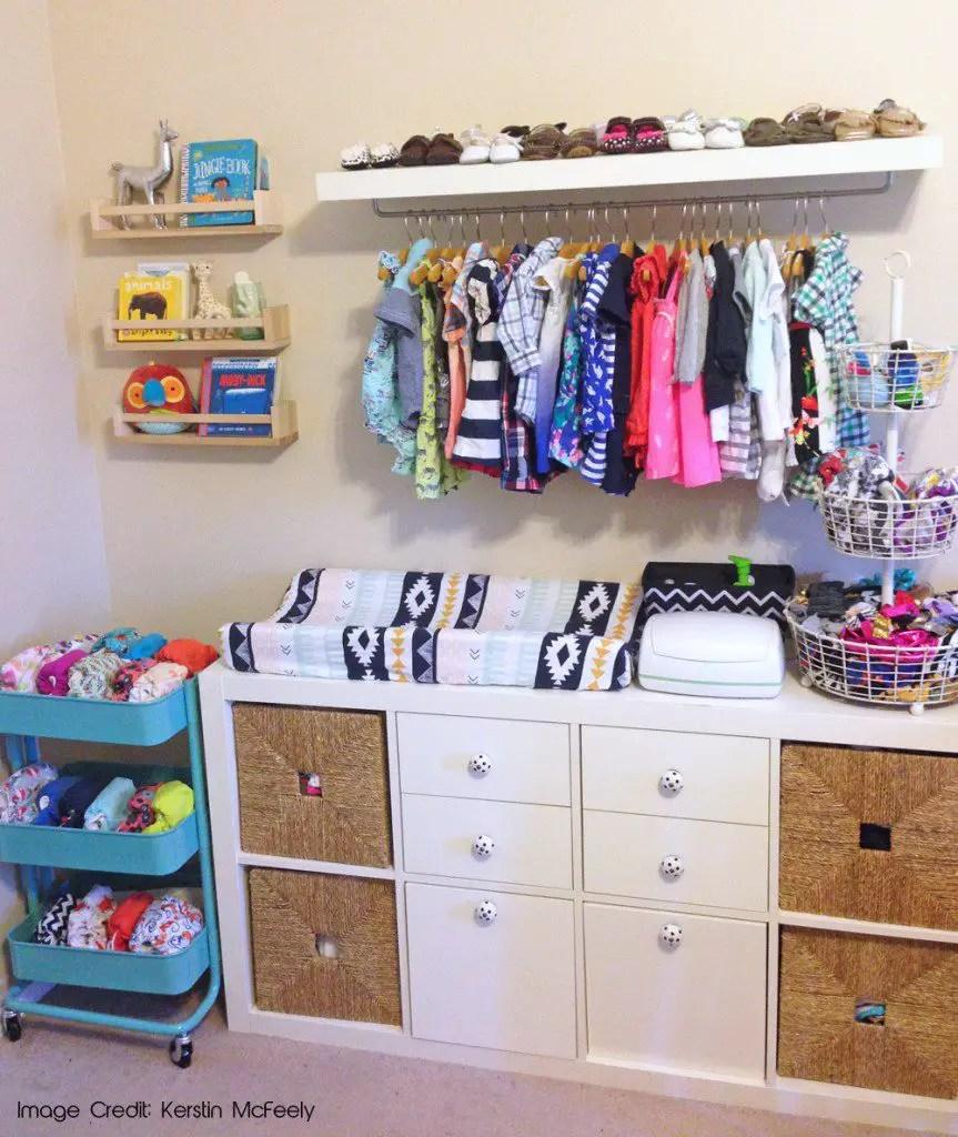 Baby Boy Wardrobe Closet Organization