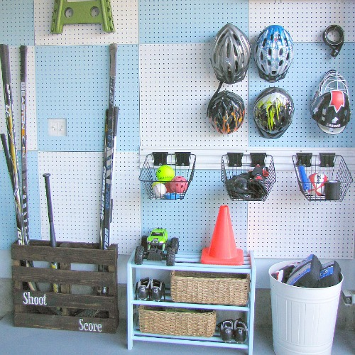 sports equipment storage | garage organization | how to store sports gear | store sports equipment | sports equipment organization