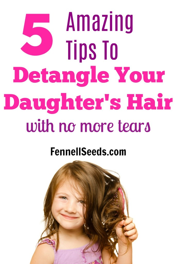 How to Detangle Hair | How to Untangle Hair | Crying while Combing Hair | Detangle Hair | Girl's Hair