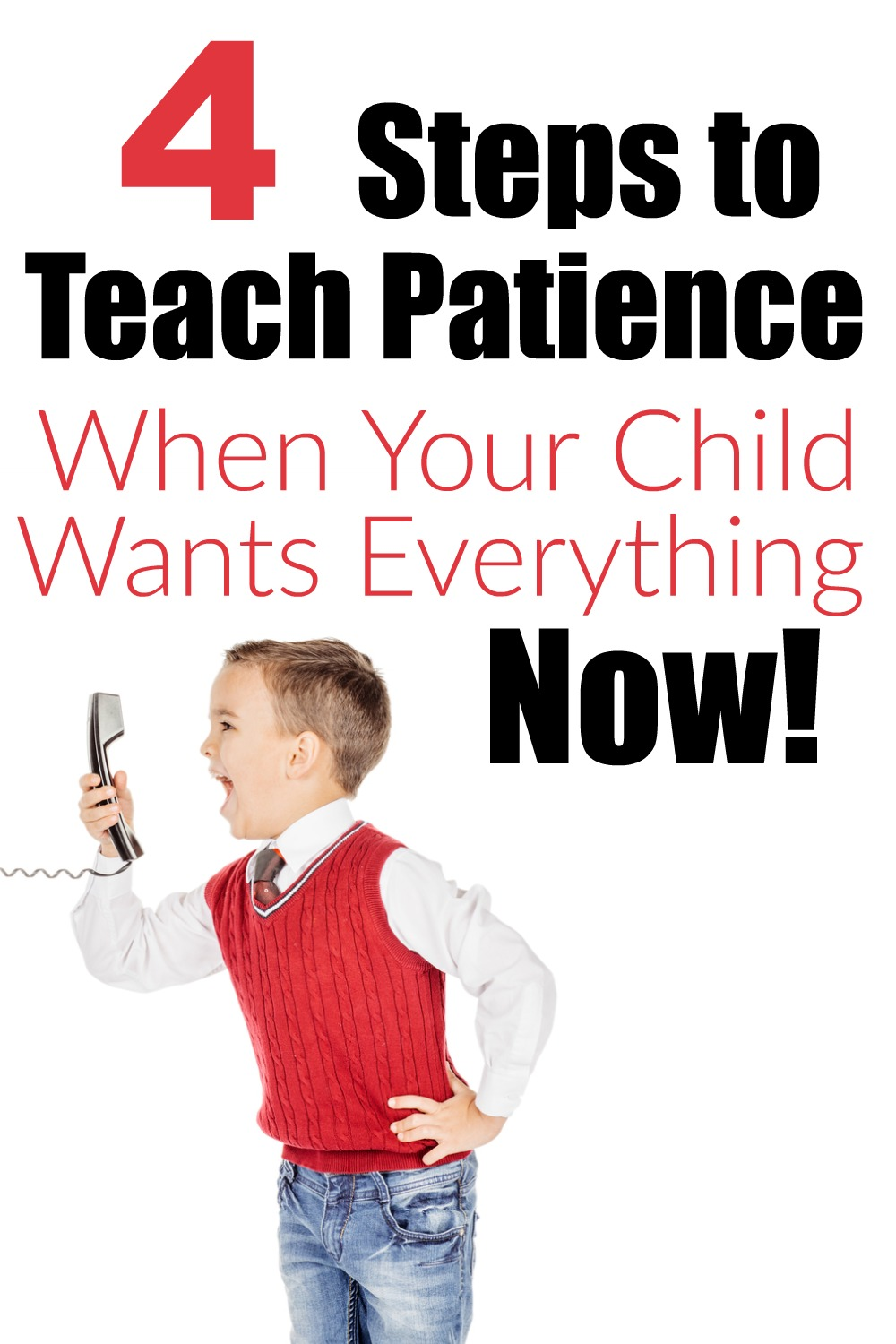 4 steps to teach patience to your child. Patience is difficult to teach because we have to show them ourselves.