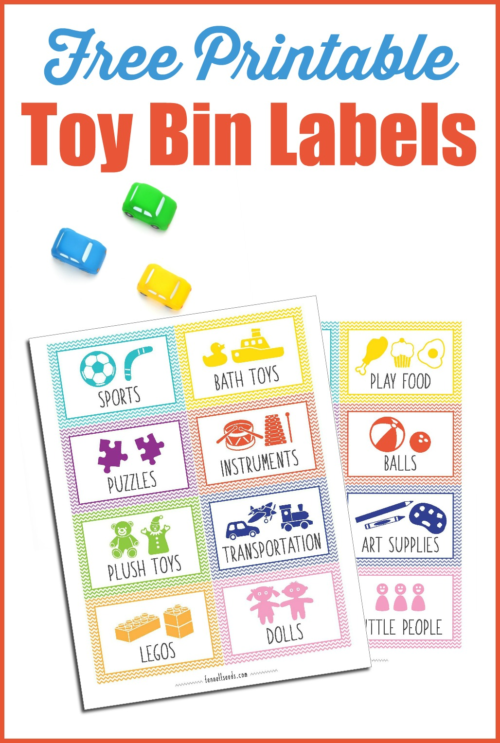 Best Way To Organize Pantry Printable Toy Bin Labels That Are Cute And Free