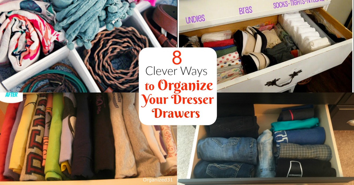 Some super functional ways for how to organize dresser drawers   how to organize your dresser   how to organize dresser   how to organize drawers   how to organize clothes   dresser organization ideas
