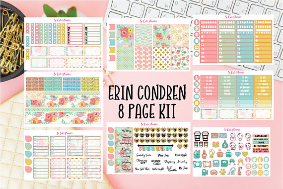 Make your planner or bullet journal pretty even if you can't draw with these planner accessories.   planner stickers